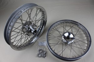 "+298  Front wheels,  Polished alloy billet hub, 18"" Alloy rim, Stainless steel H.D. spokes, The lightest wheel option. Adaptable for all Triking models and direct replacement for the early type wheels with cast hubs."