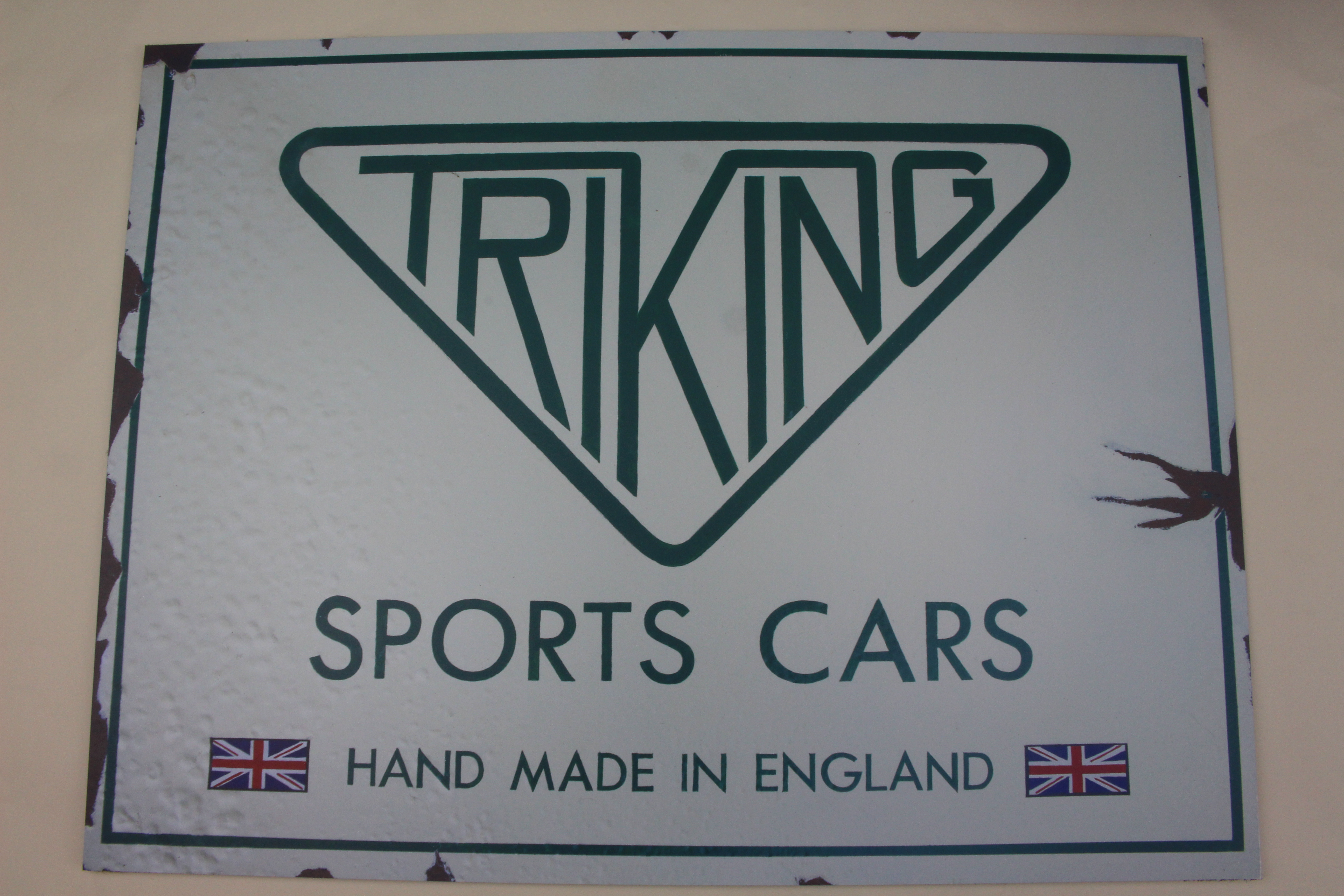 """Triking Vintage Wall Sign, reproduction of our own works sign printed on modern lightweight weatherproof sign board, 18"""" x 24"""""""